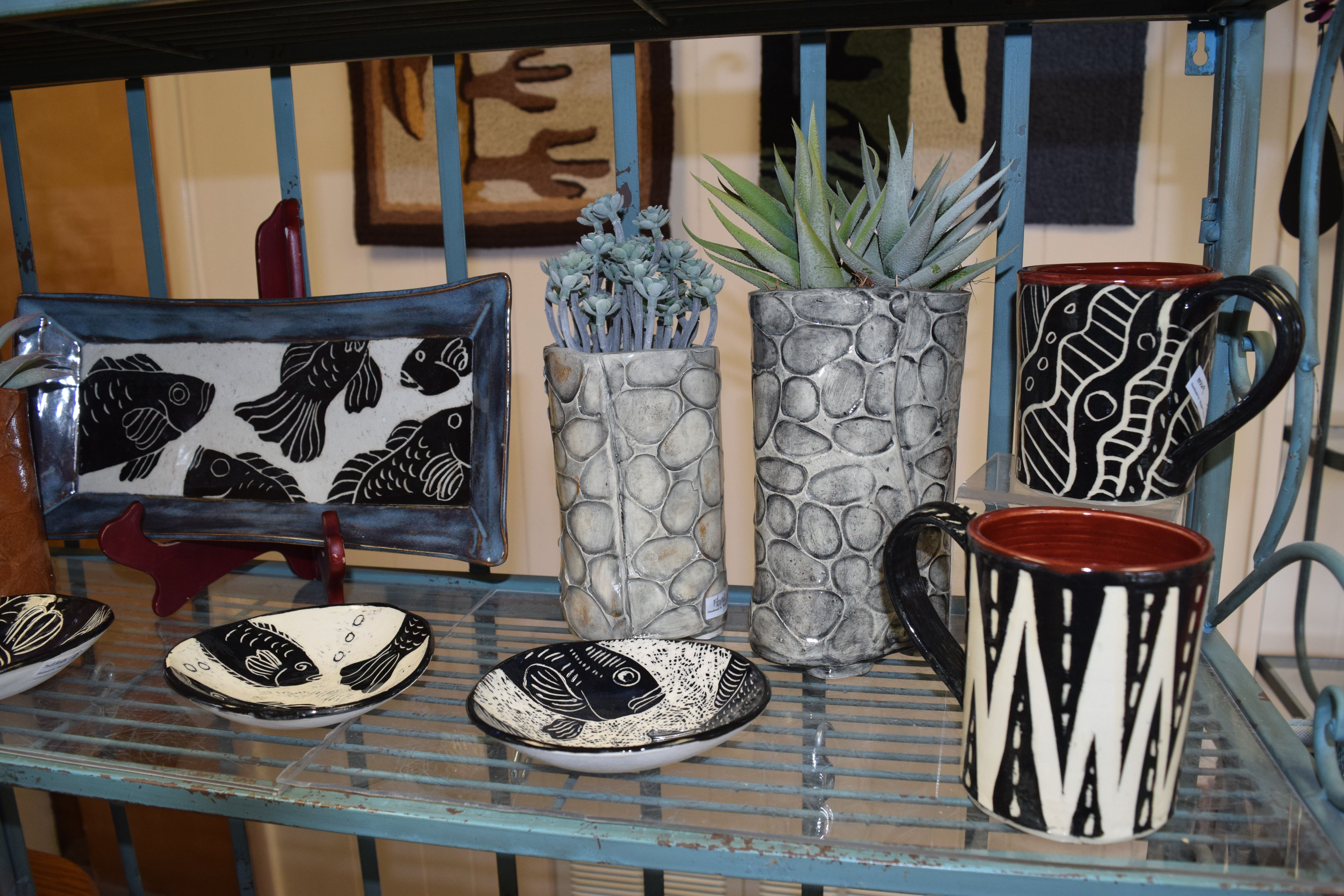 Local Artist Maggie Trzcinski Showcases A Variety Of Pottery And Clay Pieces Including Cups Bowls And Spoon Plates Pottery Bowling Green Ohio Local Artists
