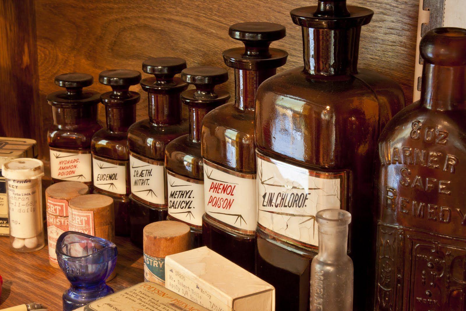 traditional pharmacy bottles