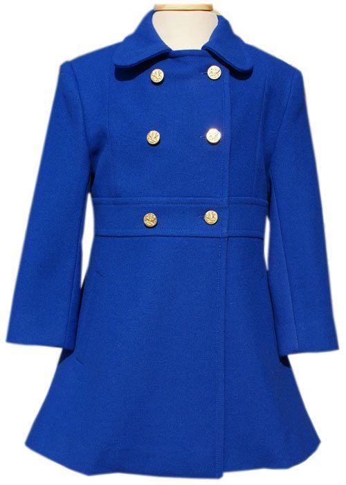 570a538994b2 Girls Royal Blue winters coat