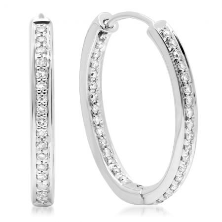 Pin On Classic Diamond Hoops Huggies