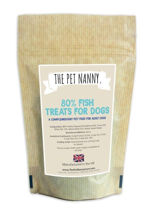 The Pet Nanny 80 Fish Puppy Dog Training Treats 500g Free P P