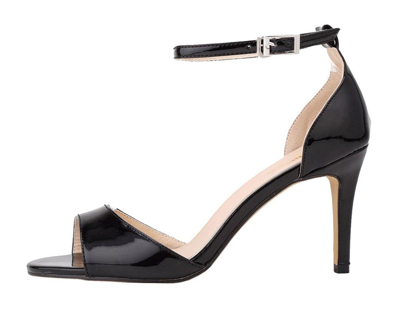 376e7678e06f9 CAMSSOO Women's Classical Strappy Sandals Open Toe Low Heels: Amazon ...