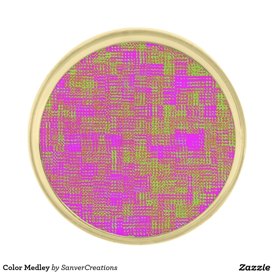 Color Medley Gold Finish Lapel Pin