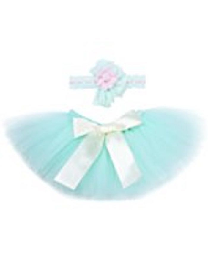 Photo of Mint Green Baby Tutu Set With Headband 0-9M baby girl-Great for prop photos and photo shoots as well as baby shower gifts! The Easter Outfit