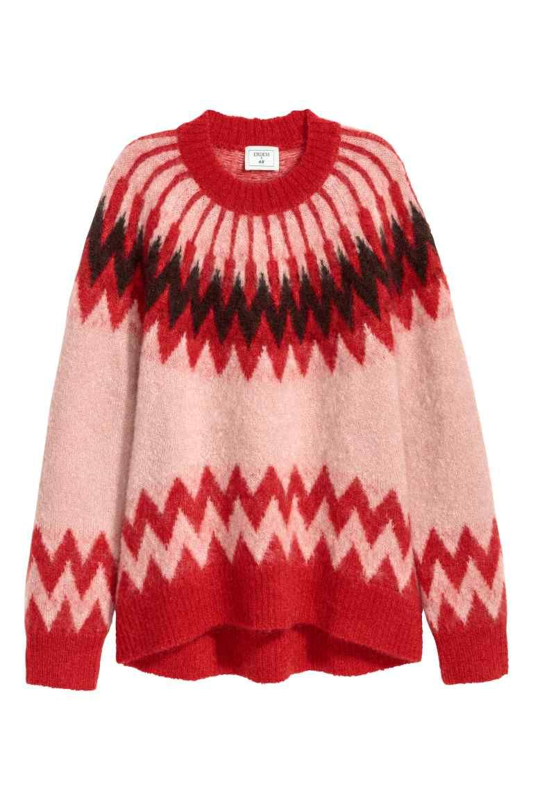 7f1240b28e Pullover in misto mohair - Rosa cipria/rosso - DONNA | H&M IT 1 ...