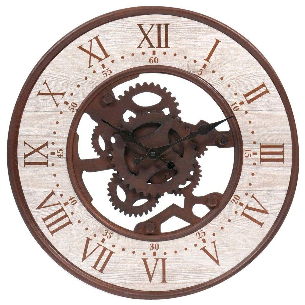 Seattle Rusted Look Metal Clock D Horloge Metal Horloge Maison Du Monde Horloge