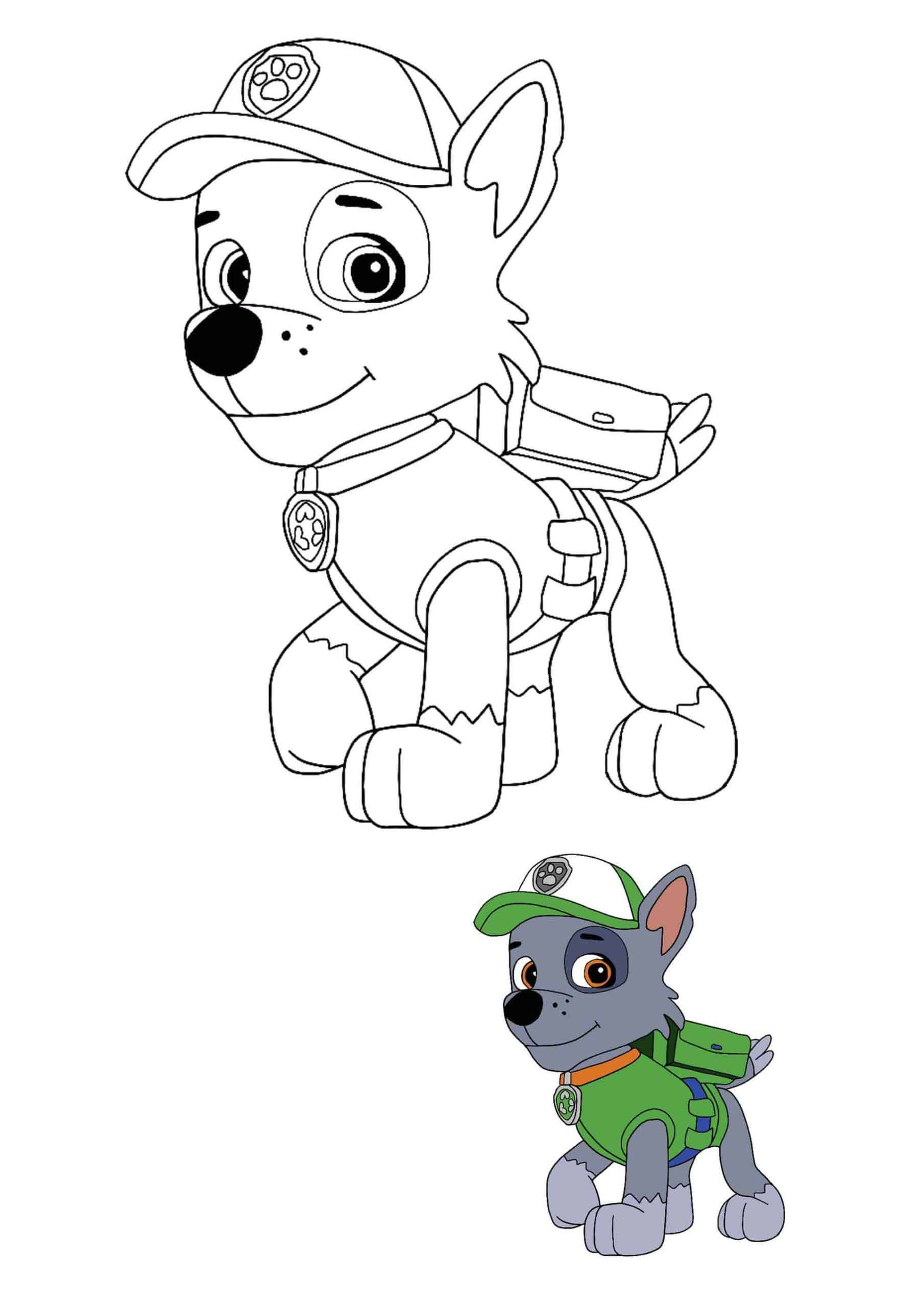 Paw Patrol Rocky Coloring Sheet With A Sample Paw Patrol Coloring Paw Patrol Rocky Paw Patrol Coloring Pages