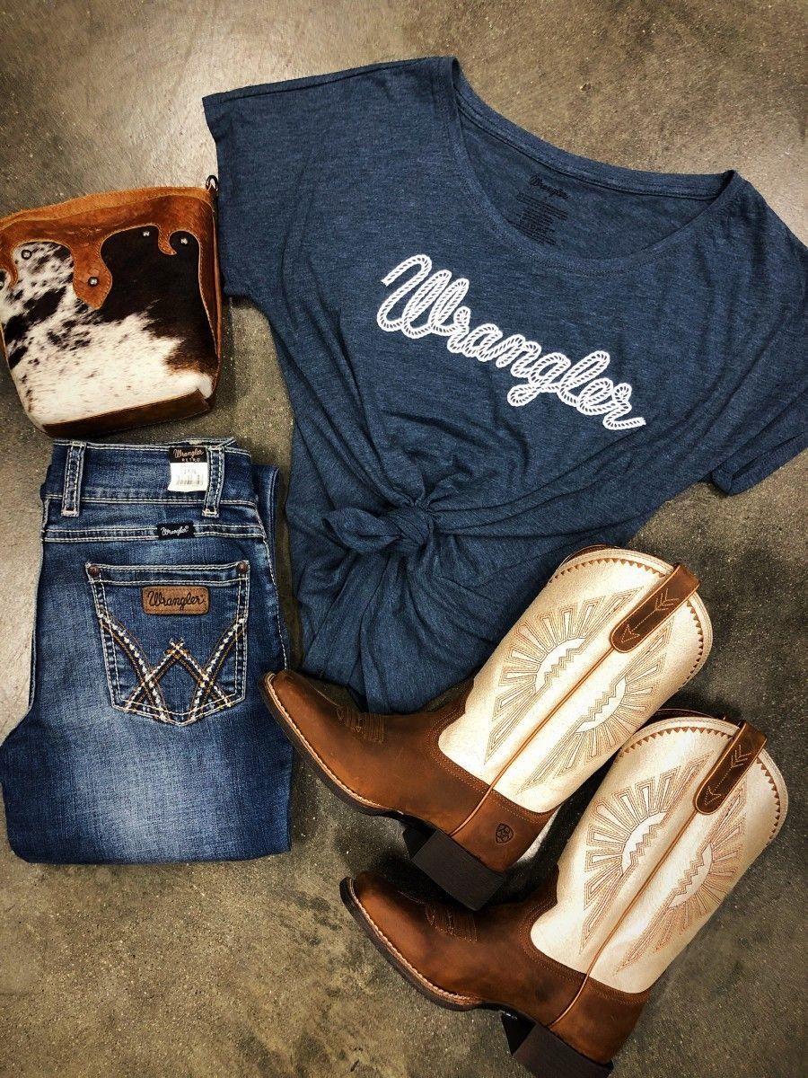 Women's wrangler ® short sleeve rope logo t-shirt 3