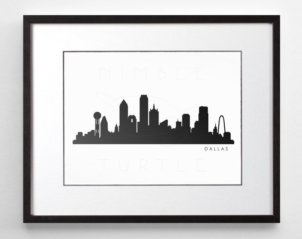 dallas skyline silhouette printable skyline dallas texas pdf