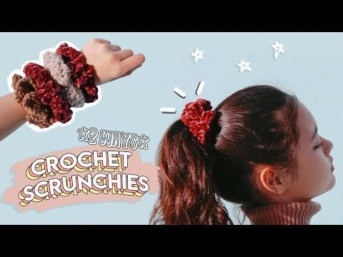 How to Crochet Scrunchies: 2 Ways! | Miss Craft Nerd - YouTube #crochetscrunchies How to Crochet Scrunchies: 2 Ways! | Miss Craft Nerd - YouTube #crochetscrunchies
