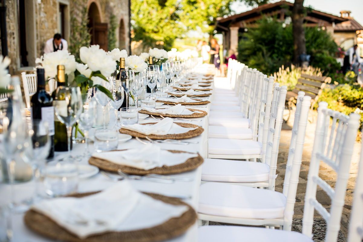 Table decorations. Wedding photography at Antico Fio Poppi - Arezzo ...