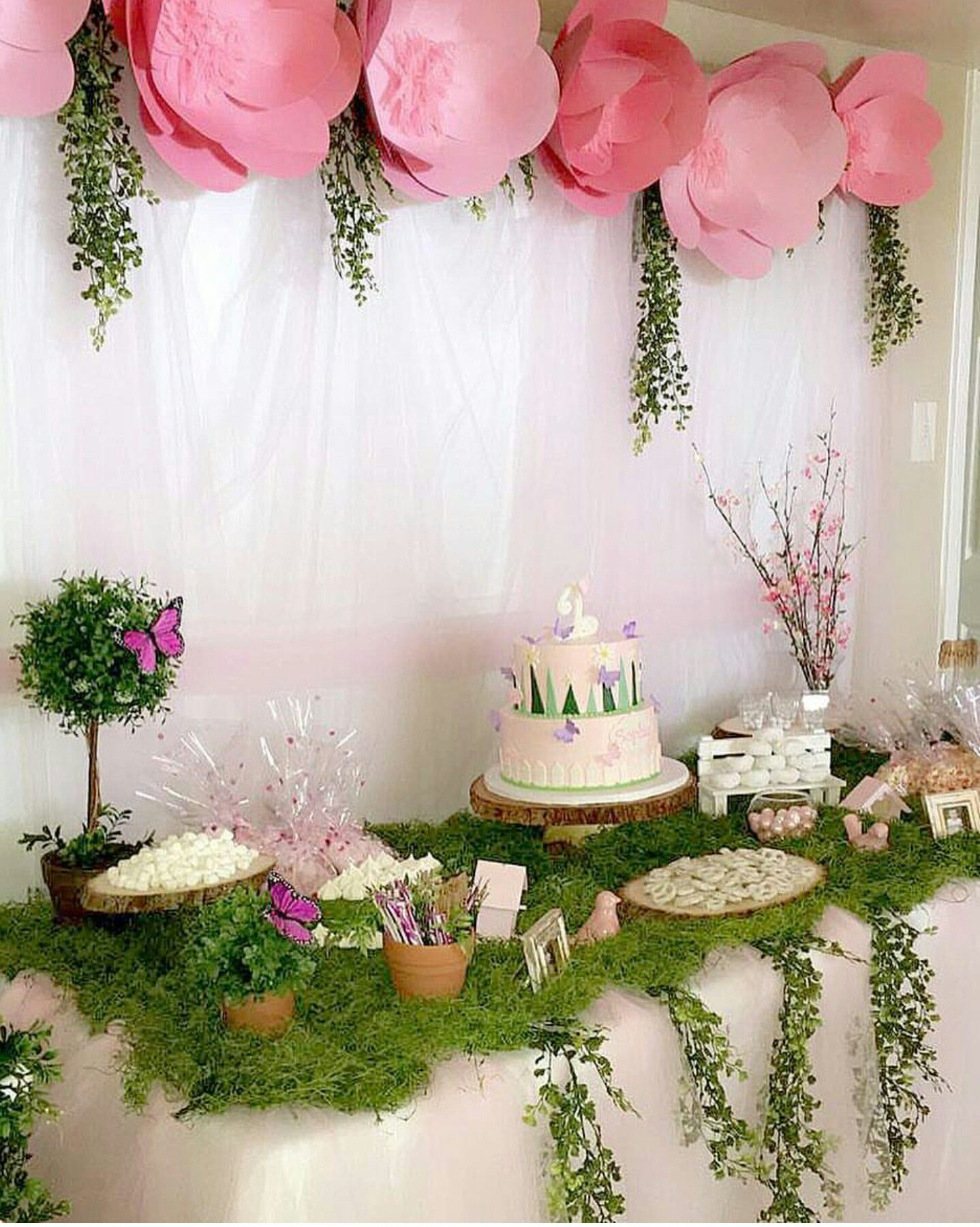 Enchanted garden Baby shower, Garden theme, Table