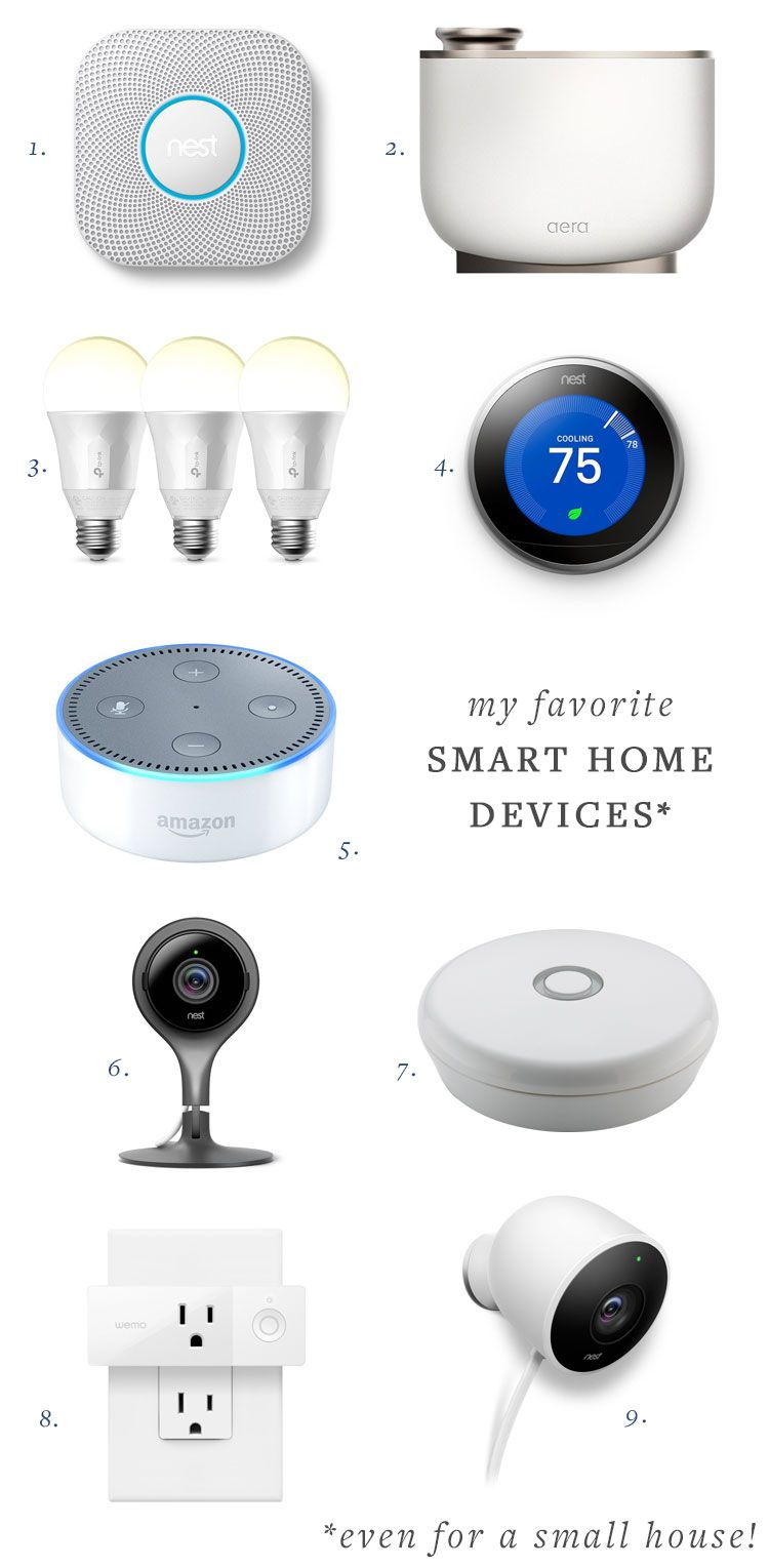 my favorite smart home devices (even for a small space!) — nest, alexa, cameras,…