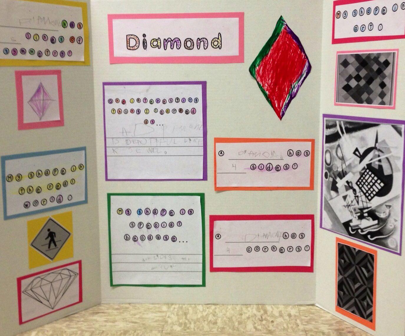 Kindergarten Project Diamond Shape