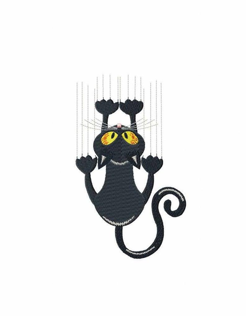 Verrückte Katze Maschinenstickerei entwirft 7 Größen | Etsy