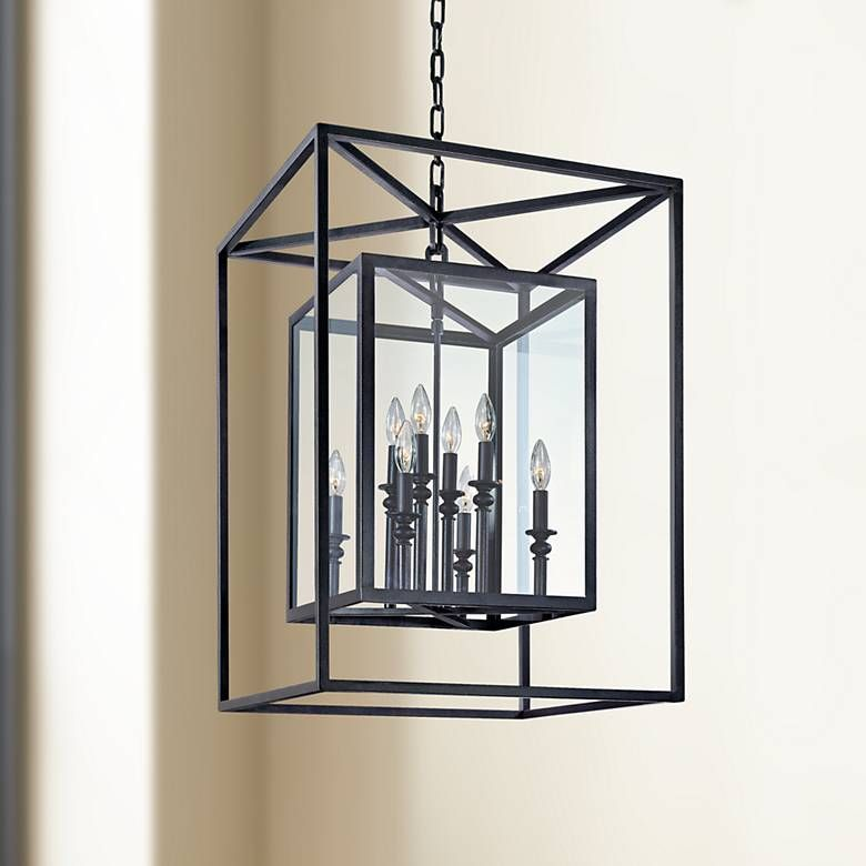 Morgan 8 Light 21 Wide Gold And Silver Leaf Pendant Light U1127 Lamps Plus Bronze Pendant Light Pendant Light Wrought Iron Pendant Light