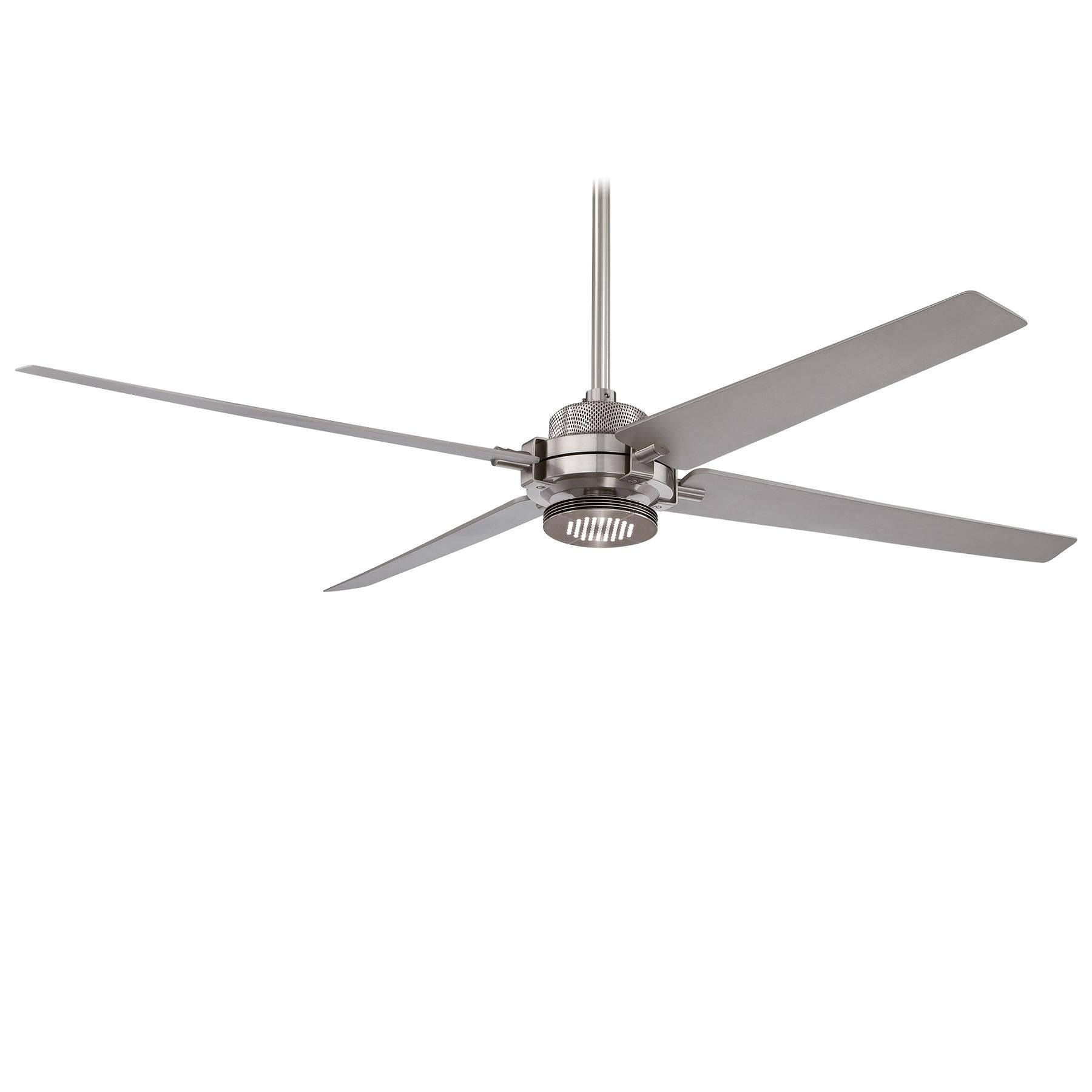 Spectre Ceiling Fan With Light By Minka Aire F726 Bn Sl