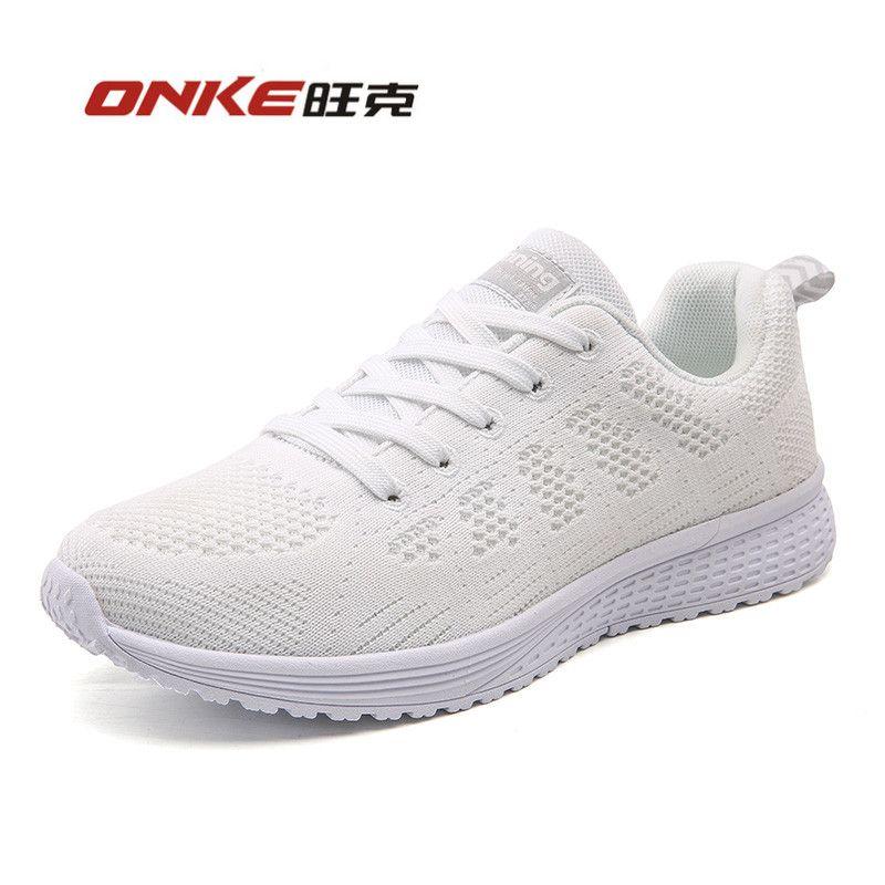 Moonwalker Zapatillas De Deportes de Cuero para Mujer (EUR 38 ,Blanco)