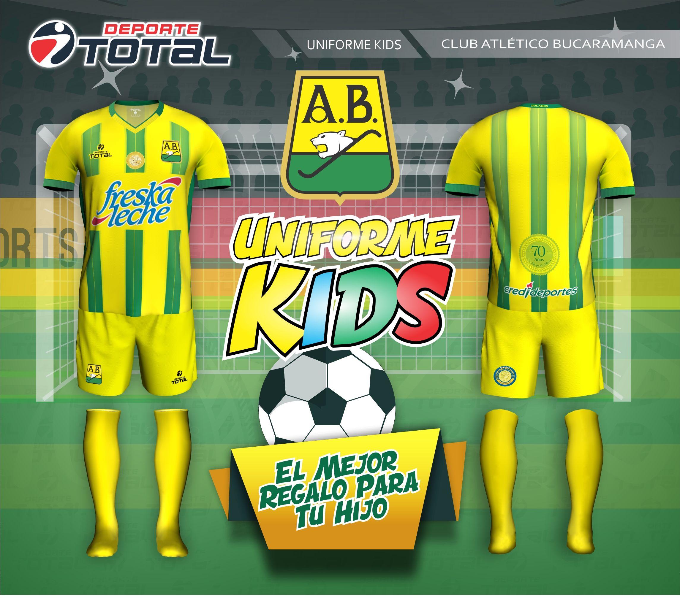 Uniforme de Niños - deporte total-atletico bucaramanga- 2018-camiseta- uniforme- cec5b38c926b2