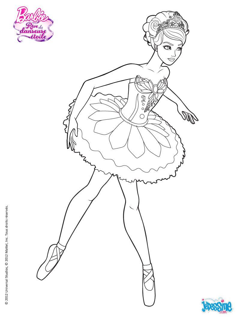 Coloriage Barbie Kristyn à Colorier Hellokid Dessin