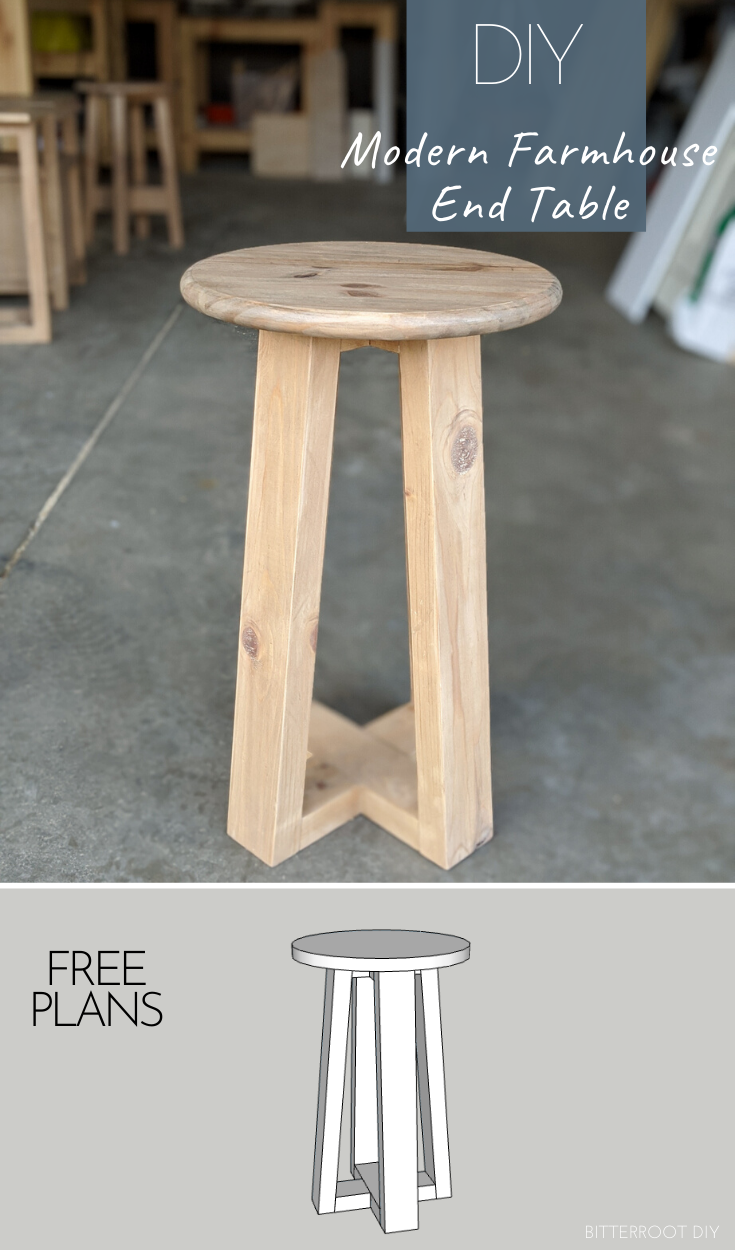 Photo of 2×4 Modern Farmhouse DIY End Table |