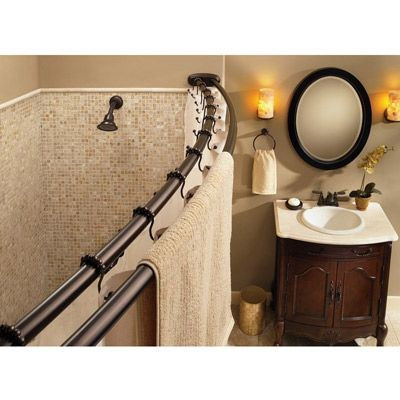 Moen Creative Specialites Double Curved Shower Rod Shower Rod