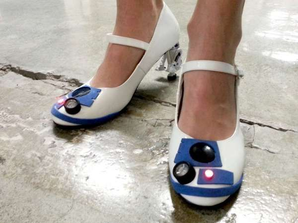 These DIY R2-D2 Pumps are Crafty Star Wars Shoes #DIY trendhunter.com