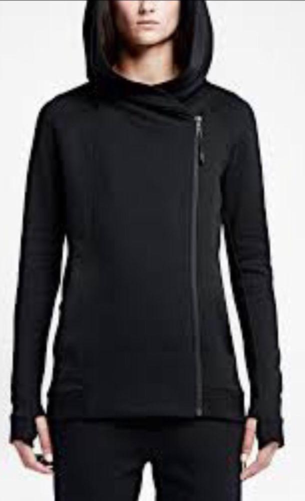a98569a2732e Nike Tech Fleece Cape Jacket Coat Women s M MSRP  180 Black NEW  Nils   CoatsJackets