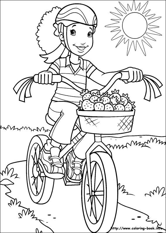 Holly hobbie coloring picture handmade coloring for Holly hobbie coloring pages
