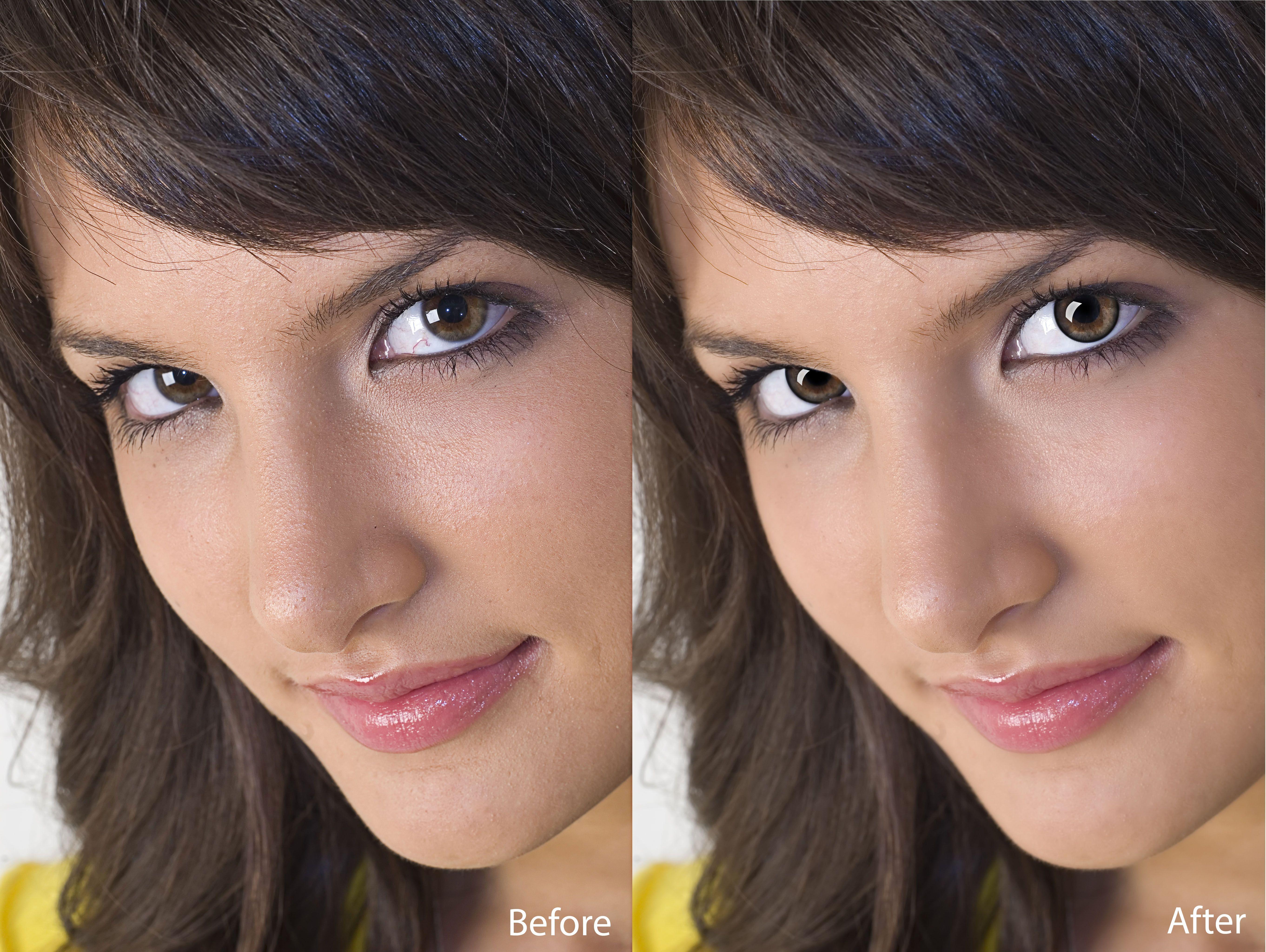 I would like some professional input on retouching eyes
