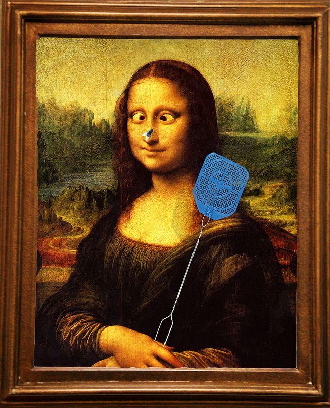 Fly Swatter Mona Lisa Parody Mona Lisa Mona Friends