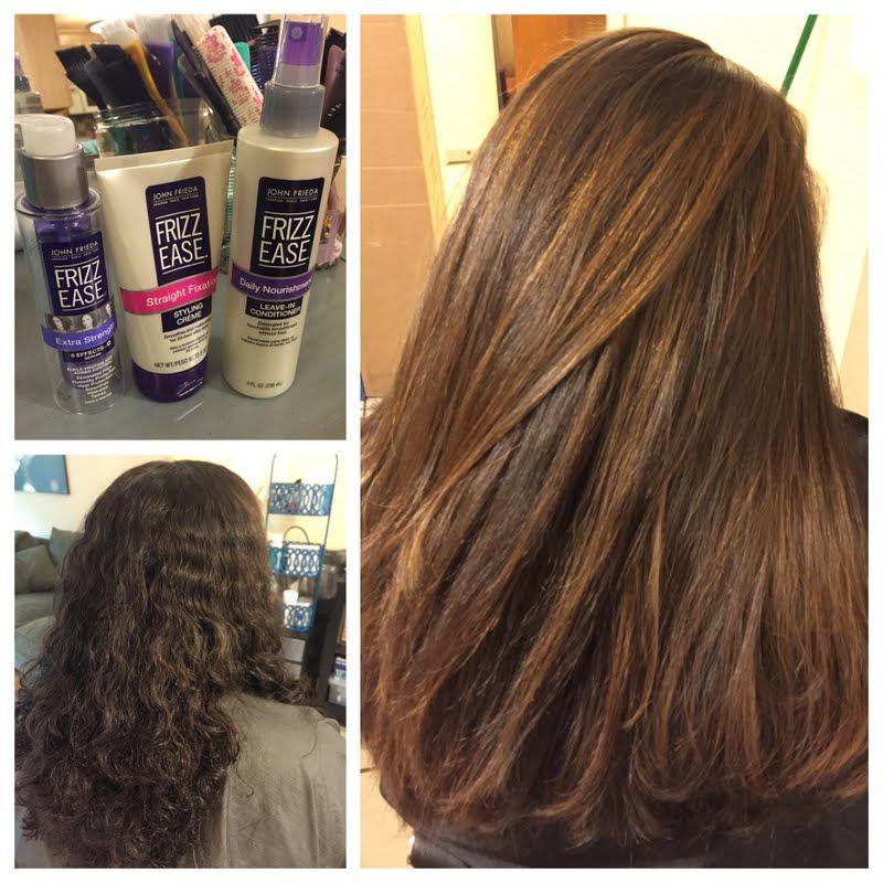 Frizz Free Straight Hair By Elyssa Straight Hairstyles Frizz Free Hair