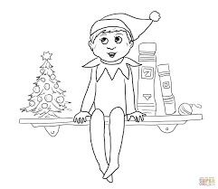 free image for coloring the elf on the shelf