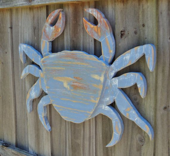 Photo of Items similar to Crab Lover, Crab Decor, Large Crab, Coastal Gift, Coastal Living Room, Coastal Wall Art, Wall Art, Wood Crab, Nautical Decor, Beach Art on Etsy