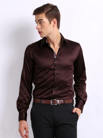 brown shirt & black trouser | Formals | Pinterest | Shirts ...