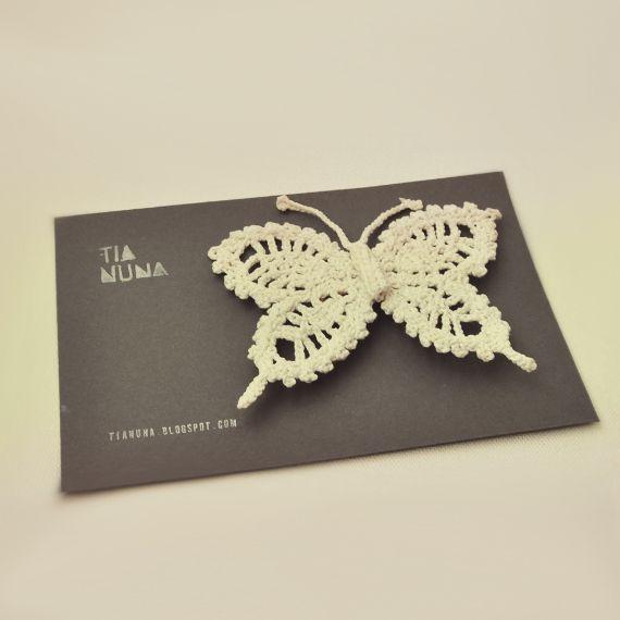 broche mariposa crochet endurecido | Crafts | Pinterest | Amigurumi ...
