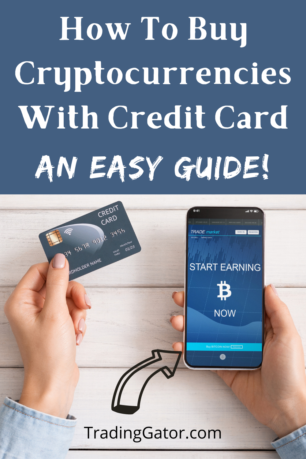 Buying Cryptocurrencies With Credit Card An Easy Guide Tradinggator Credit Card Buy Cryptocurrency Buy Bitcoin