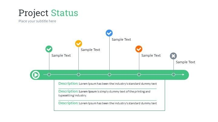 project status powerpoint presentation template ez az sample