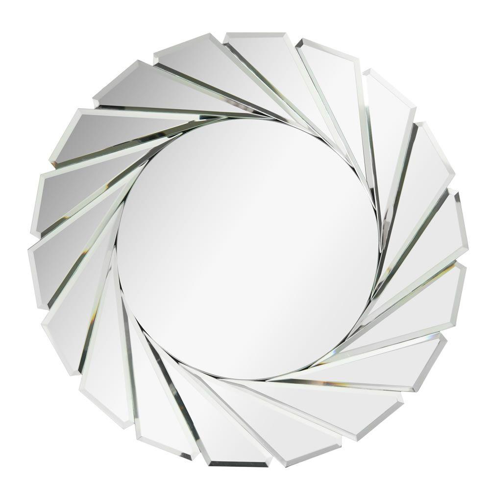 Wilko baroque mirror silver 87x62cm - Wilko Mirror All Glass Round