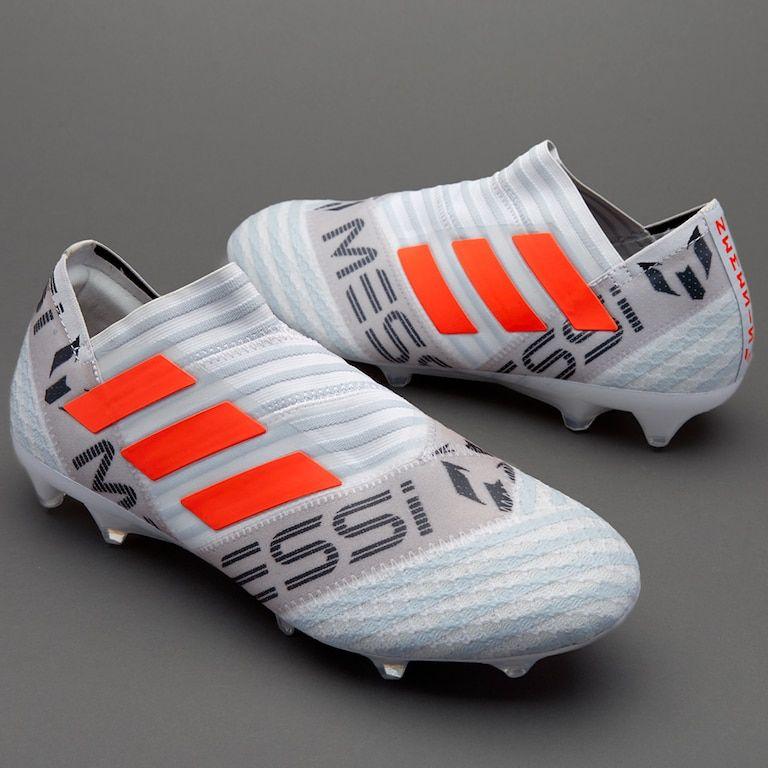 bc90b2db355 adidas Nemeziz Messi 17+ 360 Agility FG - White Solar Orange Clear Grey