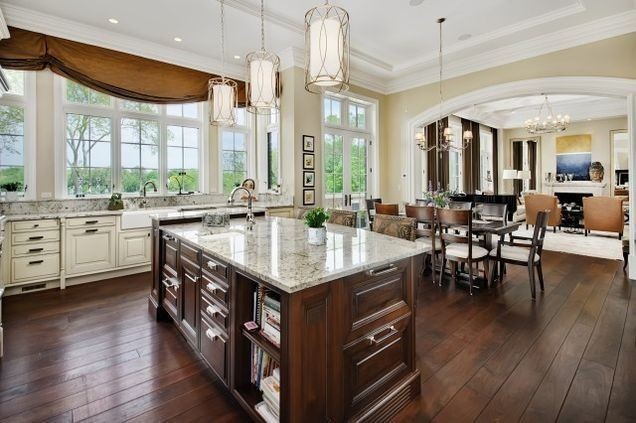 Inside The Real Home From The Hit Tv Series Empire Home French Country Manor Brown Kitchens