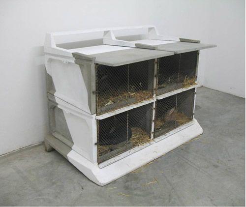 Tuning de clapier à lapin Clapier ciment (quatre cases) + éléments