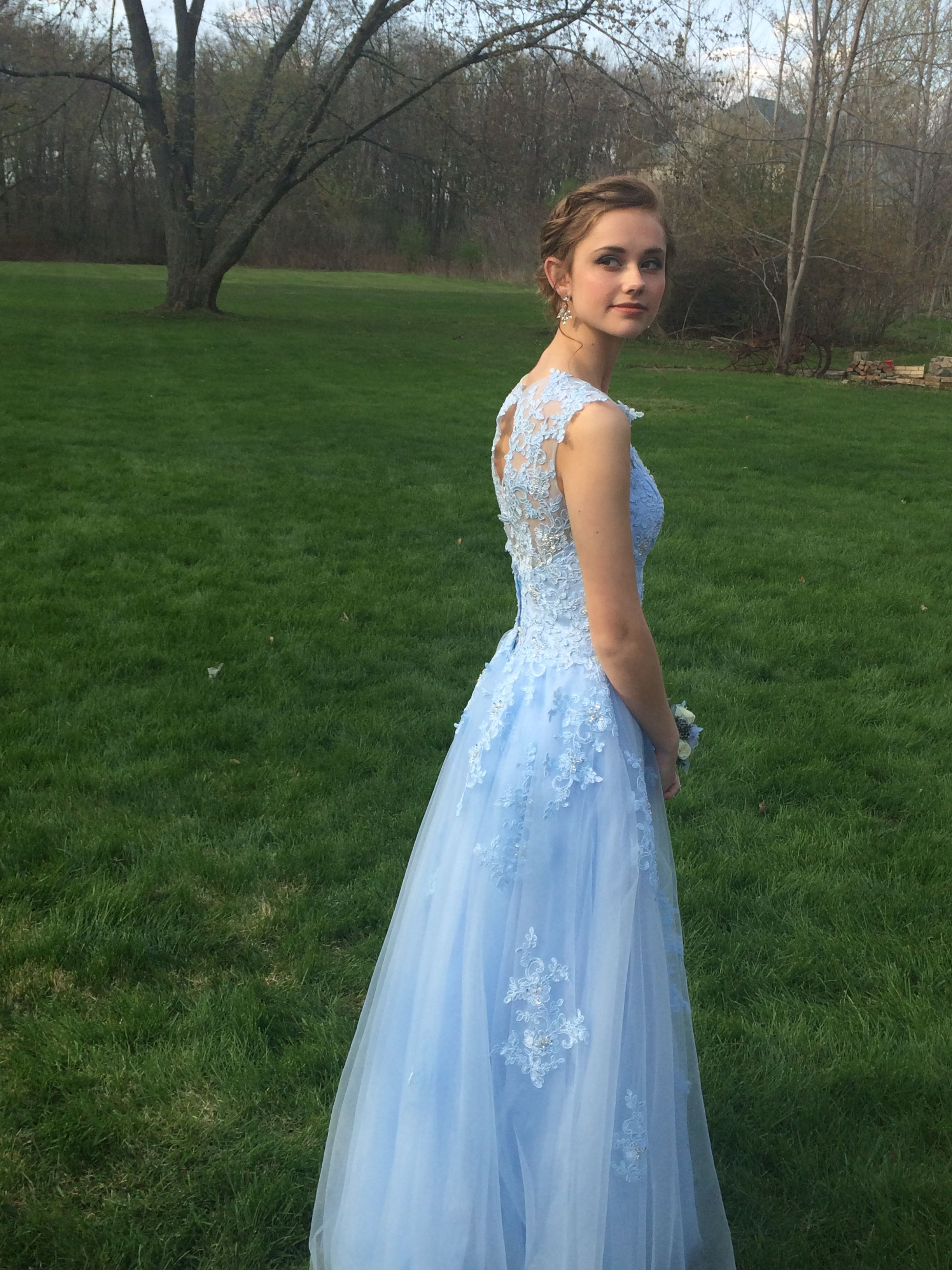 4ad9c9f5d jjshouse sky blue lace prom dress with added appliqués #prom #lace #skyblue  #jjshouse