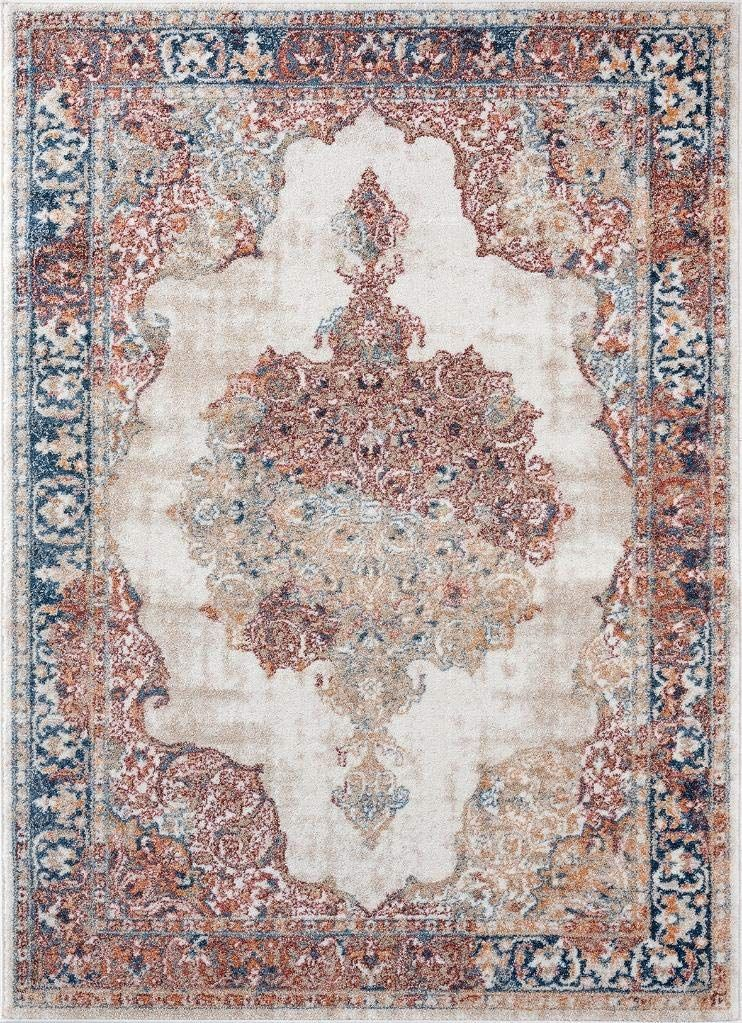Luxe Weavers Ivory Oriental 8x10 Area Rug 7158