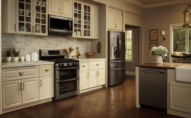 Lg Black Stainless Steel Kitchen Appliances Bring Bold Update To