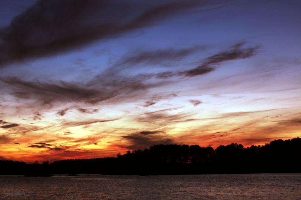 Lake Vanaja sunset  by Kicka Terho