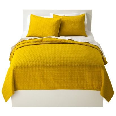 Room essentials solid quilt yellow quilt as throw new for Small room essentials