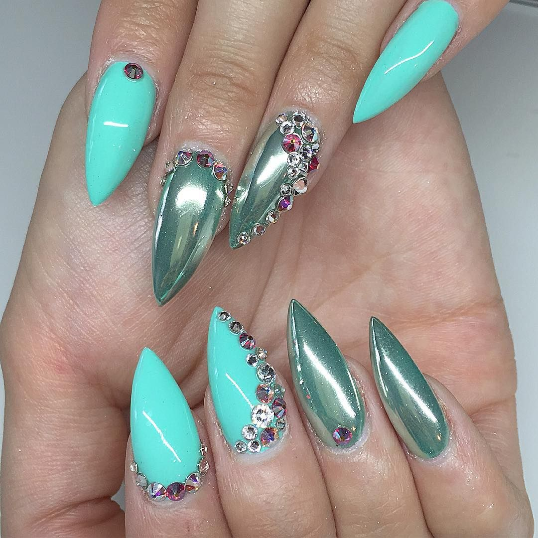 dailycharme.com chromepowder over teal | Nails *** | Pinterest ...