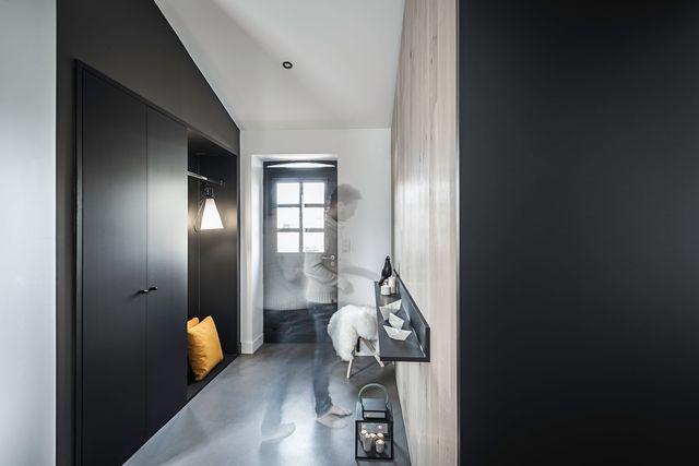 Maison longère contemporaine de 180 m2 à Nantes - entree de maison contemporaine