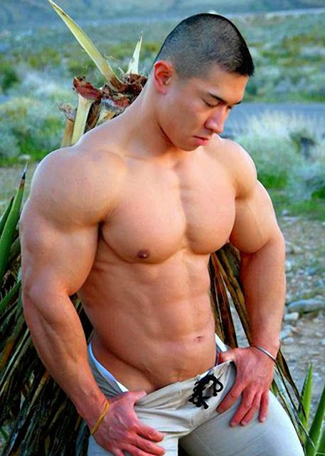naked muscle asian men